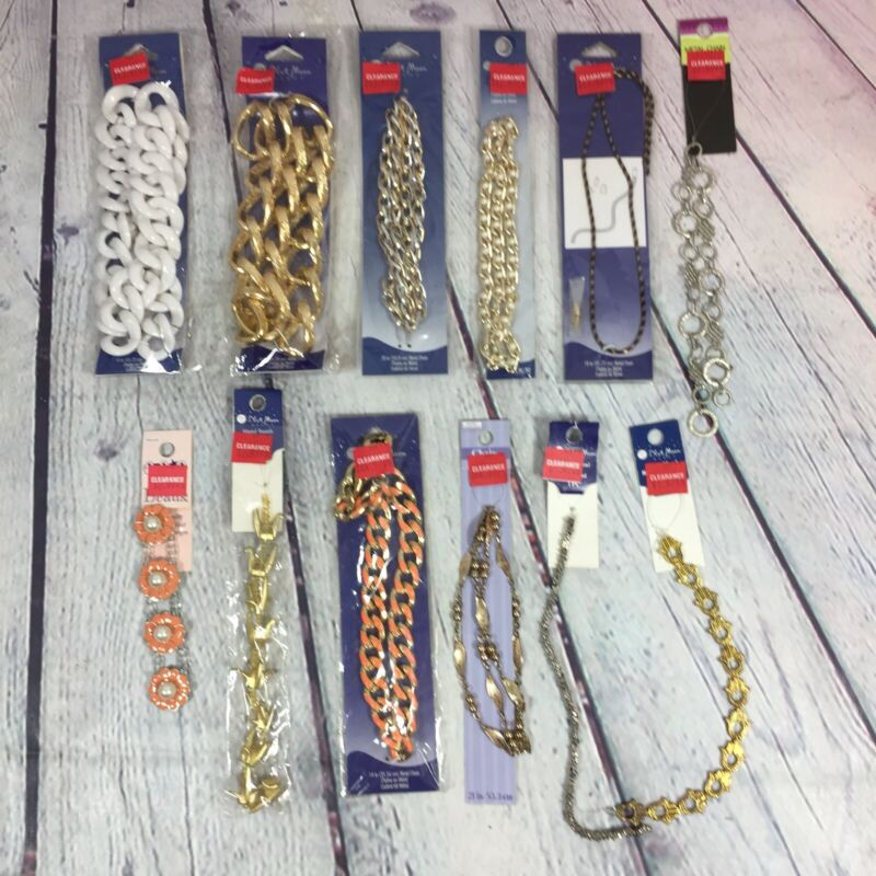 Jewelry Making Craft Supply Lot New in Original Package - Chains Beads Charms 10