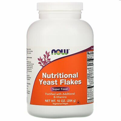 Now Foods Nutritional Yeast Flakes 10 oz 284 g GMP Quality Assured, Kosher,