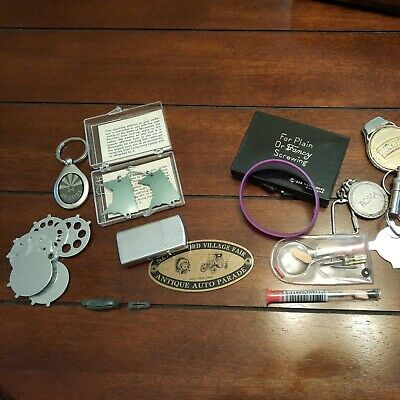 Junk Drawer Lot Novelty Items, Souvenirs Key Chain Money Clip, Eye Glass Repair