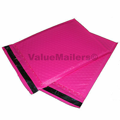 50 2 Pink Poly Bubble Mailers Envelopes Padded Mailer Shipping Bags 8.5x12
