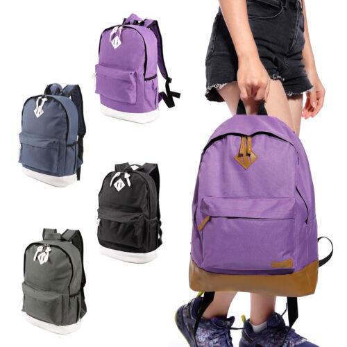 Vintage Mens Canvas Backpack Rucksack Laptop School Shoulder Travel Camping Bag
