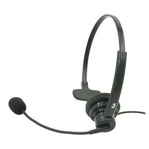 Mitel Phone headset, Noise Canceling Rotatable Microphone, Volume & Mute