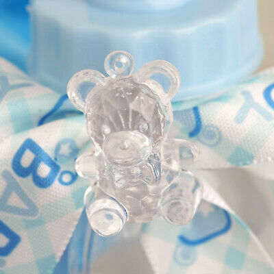 144 pcs Clear Plastic Teddy Bears Gender Neutral Baby Shower Favors Decorations