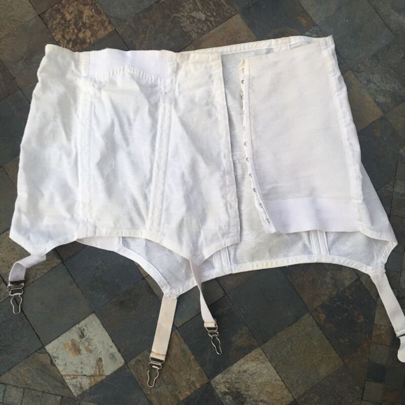 "Vintage Girdle Garter Belt - Sears - 36"" waist Large Sexy Stretch Spanks"