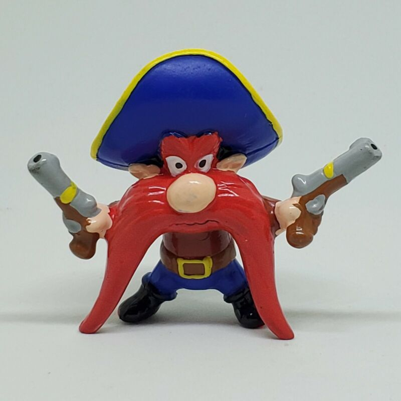 Vintage Yosemite Sam with Pistols Guns PVC Figure Lot 1990 Applause Looney Tunes
