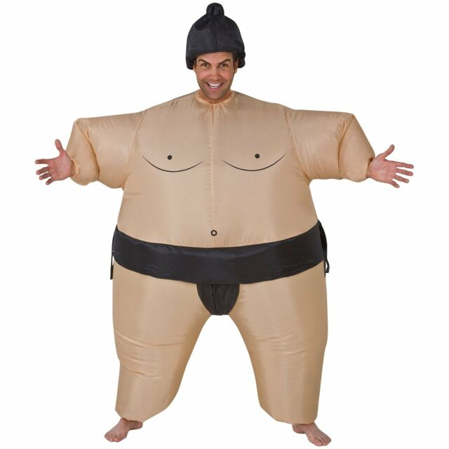 C257 Airblown Inflatable Sumo Mens Funny Halloween Fancy Dress Adult Costume