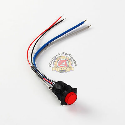 16mm Illuminated Push Button - Red Latching Onoff Switch Free Shipping