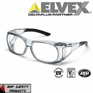 ELVEX SG-37C OVR SPECS II SHOOTING/SAFETY OVER-THE-SPECTACLE GLASSES ANSI Z87.1