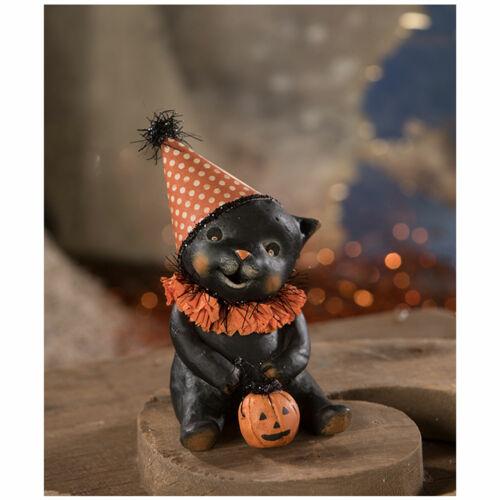 Bethany Lowe Binx Black Cat Halloween Party Retro Vntg Home Decoration Figurine