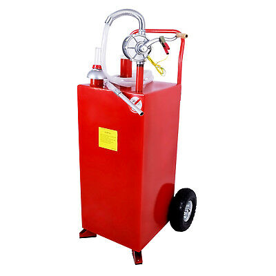 Kenwell 30 Gallon Gas Caddy Tank Fuel Storage Fluid Diesel With Pump Hose