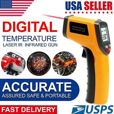 Temperature Gun Non-contact Digital Laser Infrared Ir Thermometer Temp Meter