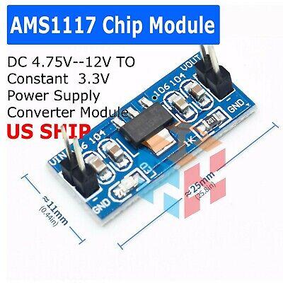 Dc 4.7v12v To 3.3v Step-down Power Supply Module Ams1117-3.3 Ldo 800ma