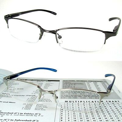 READING GLASSES Lightweight Metal 125-275 Quality SPRING HINGES *SUMMER - 324 Glasses