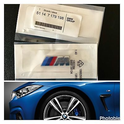 BMW 2x /// M Sport Emblem M Sticker Side Wing M Power Badge decoration Bmw M-sport-emblem