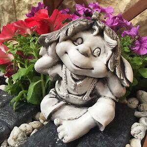 , Troll, Elfe Zwerg , Stein-Wichtel, Gartenfigur ART R_001