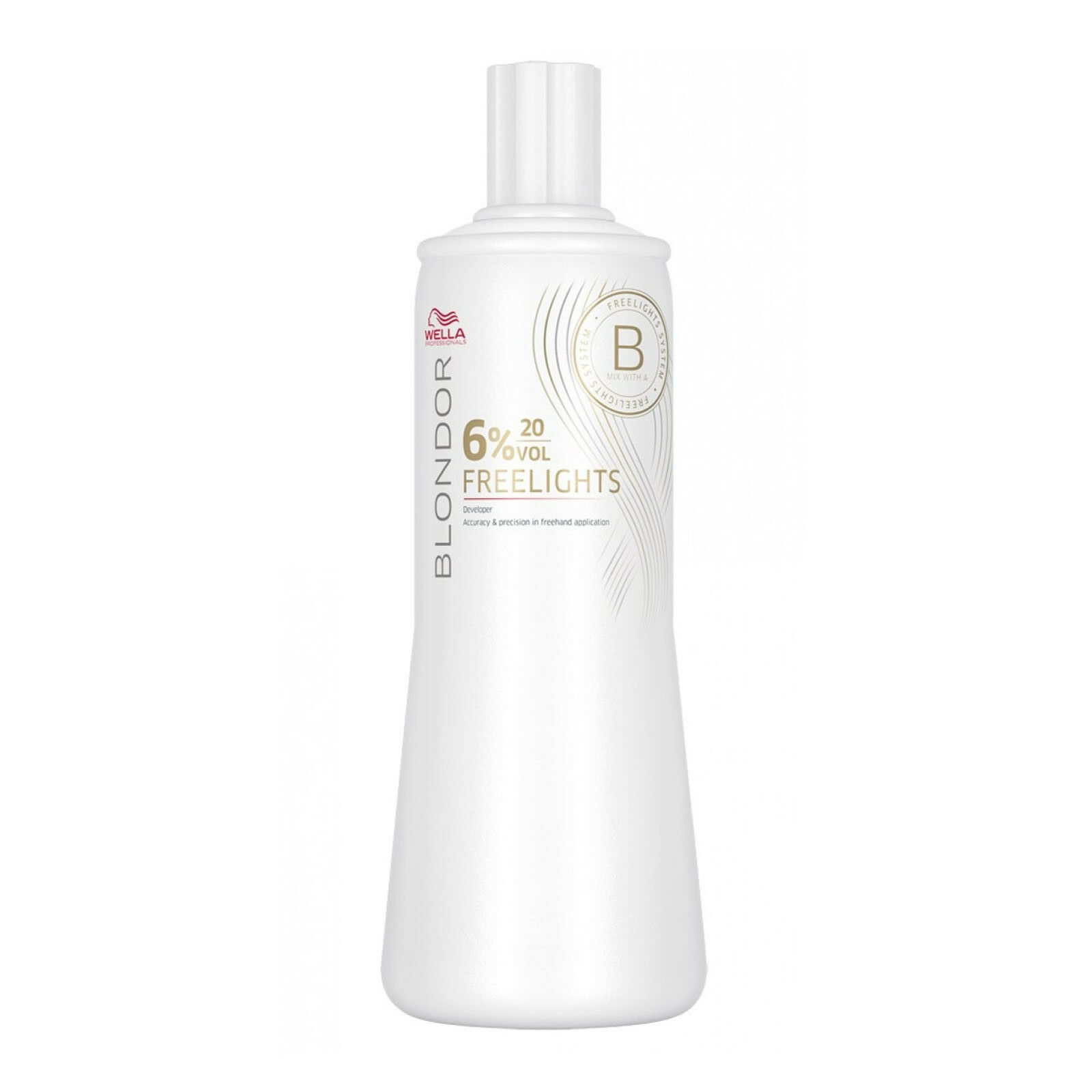 Wella Blondor Freelights Oxydant Entwickler Emulsion Oxidations Creme 6% 1000 ml