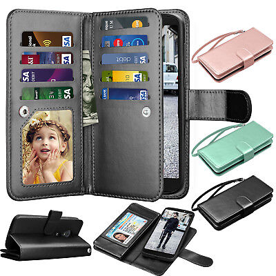 For Motorola Moto E5 Plus / Supra / Play / Cruise Wallet Flip Leather Case Cover