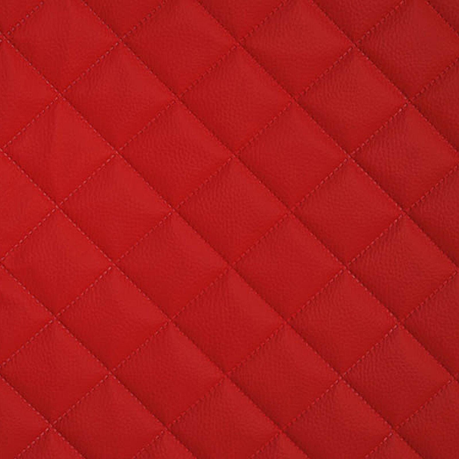 simili cuir piqu s rouge tissu ameublement vendu au m tre. Black Bedroom Furniture Sets. Home Design Ideas