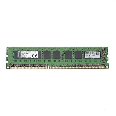 - Kingston 4GB 1Rx8 DDR3-1600 PC3-12800E ECC Unbuffered Memory KVR16E11S8/4KF