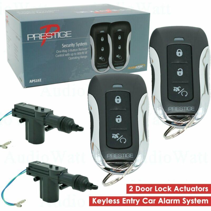 APS25Z 800FT Keyless Entry Car Alarm System + 2 Universal Door Lock Actuator
