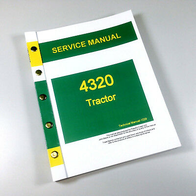 Service Manual For John Deere 4320 Tractor Technical Repair Shop Book Ovhl
