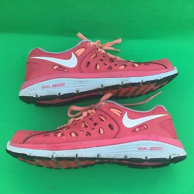 detailing 14b5d 75931 NIKE DUAL FUSION RUN2 women's fashion mesh orange running walking shoes  size-7.5