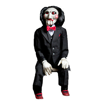 SAW Billy the Puppet Clown Jigsaw Killer Replica Movie Prop Halloween Decoration](Halloween Saw Decorations)