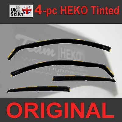 FORD FOCUS MK3 Saloon Hatchback 45 D 2011up 4 pc Wind Deflectors Heko Tinted