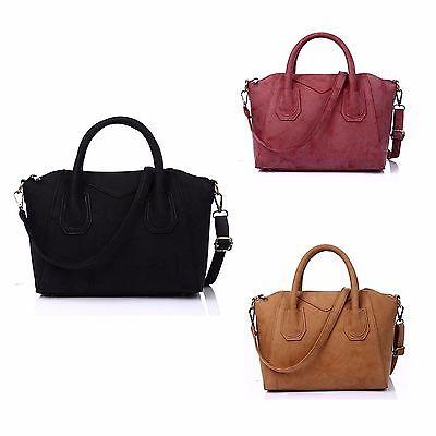 Tote Womens Große Handtasche (Vincenza Designer-Large-Womens-Leather-Amp-Suede-Style-Tote-Shoulder Handtasche)