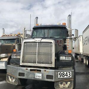 Western star  tridrive gravel dump truck with Quad