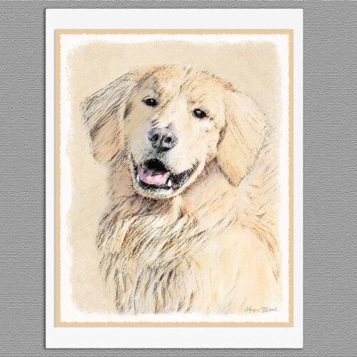 6 Golden Retriever Blank Art Note Greeting Cards