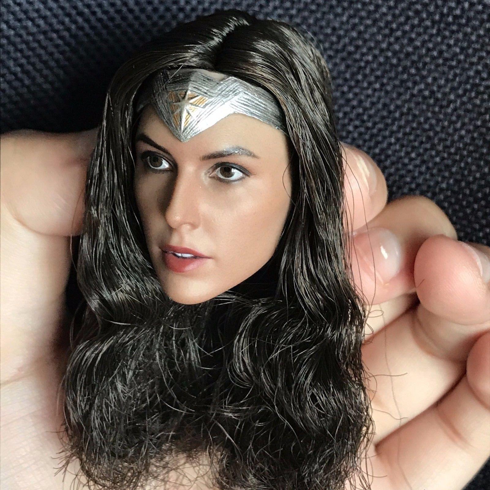 1//6 Gal Gadot WONDER WOMAN Female Head Sculpt C For Hot Toys Phicen Figure ❶USA❶