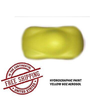 Hydrographic Film Water Transfer Hydro Dip Paint 60z Aerosol Yellow