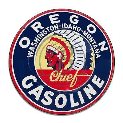 Vintage Design Sign Metal Decor Gas and Oil Sign - Oregon Chief...