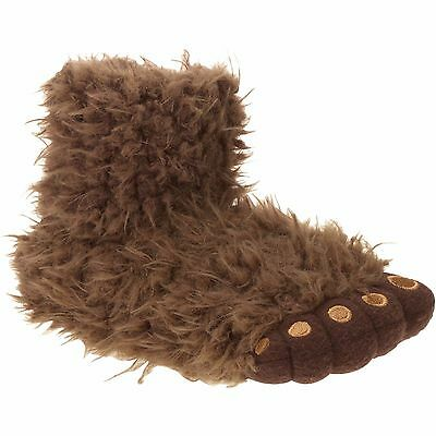 NEW Boys *11-12* Youth *2-3* Gorilla Foot Hairy Monster Slippers Costume NWT - Hairy Boys