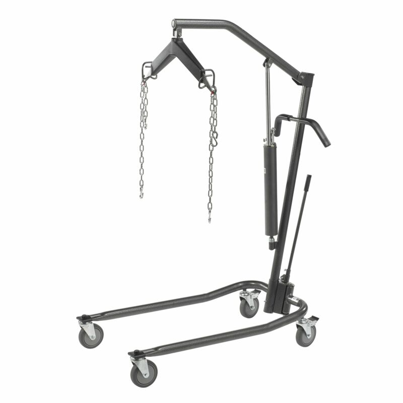 """Drive Medical Hydraulic Patient Lift with Six Point Cradle, 5"""" Casters, Silve..."""