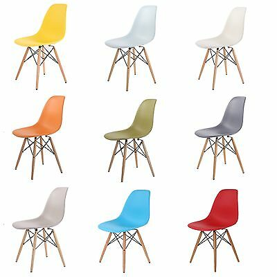Inspired Retro Wooden Metal Leg Plastic Dining Office Lounge Chair