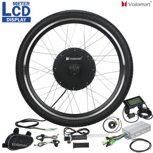 """26"""" LCD Vorderrad 48V 1000W Elektro-Fahrrad Kit Ebike Elektrofahrrad Umbausatz"""