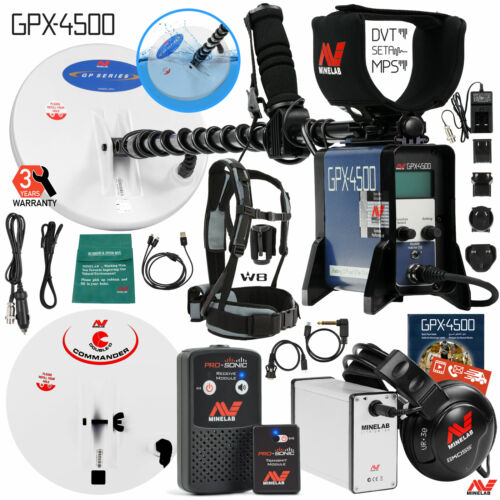 Minelab GPX 4500 Metal Detector Special with PRO-SONIC Wirel