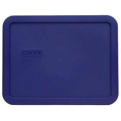 Pyrex 7211-PC Navy Blue Rectangle Food Storage Replacement Lid Cover Blue Food Storage