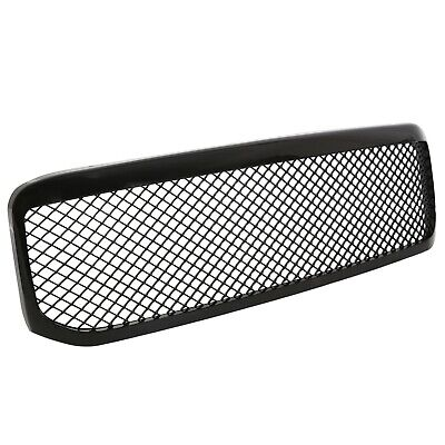 Fit 99-04 Ford F250 350 Super Duty 1PC Mesh Glossy Black Front Hood Grille Grill Ford F250 F350 1 Pc