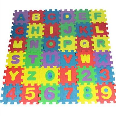 Colorful Alphabet Numbers Floor Play Mat Baby Room Foam Puzzle Mini Size 36 Pcs!