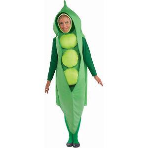 Peas Fancy Dress Costume Adult Black Eyed Pea Costume Unisex Food Funny Costume