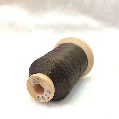 Size 00 Dark Olive #8660 SILK THREAD~925 Yard Wood Spool Utica//Gudebrod~Rod Wrap
