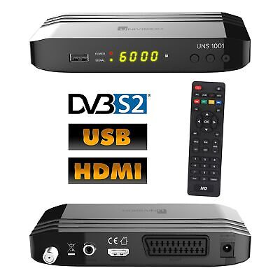 FULL HDTV Digital SAT Receiver UNS1001 DVB-S2 1080p USB 2.0 HD HDMI Scart