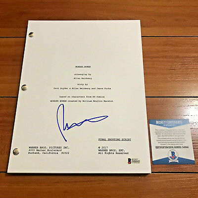 Patty Jenkins Signed Wonder Woman Full 138 Page Movie Script W  Beckett Bas Coa