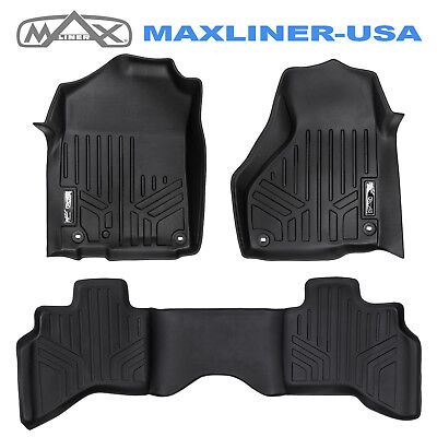 Maxfloormat 2012-2018 Dodge Ram 1500 Quad Cab Custom Fit Floor Mats Set Black