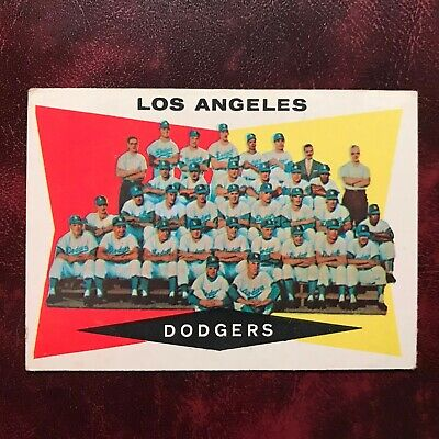 1960 Topps Set L.A. DODGERS TEAM PHOTO CARD CHECKLIST #18 UNMARKED - -