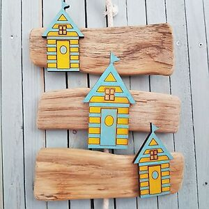 DRIFTWOOD WOODEN HANGING NAUTICAL THEME BEACH HUT SEASIDE YACHT BOAT PLAQUE SIGN