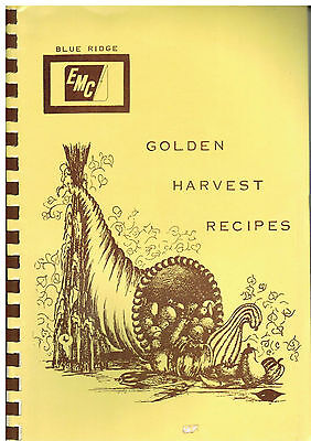 LENOIR NC 1975 GOLDEN HARVEST RECIPES COOK BOOK BLUE RIDGE ELECTRIC CORP MEMBERS